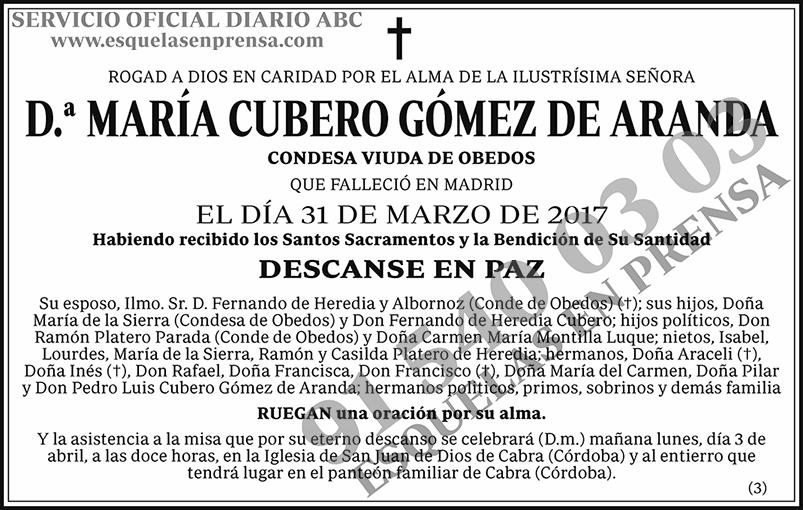 María Cubero Gómez de Aranda